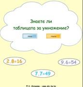 Знаете ли таблицата за умножение?