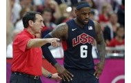 Coach K. and Lebron James