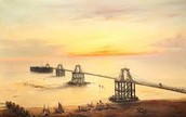 bridge under sunset