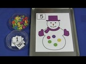 Snowman Counting Buttons