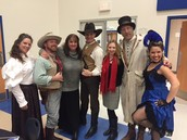 Cast of Murder Mystery... and two GREAT teachers!