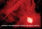 Radio Emissions Near Black Hole