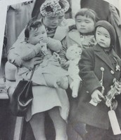 An average Japanese family living in the United States of America being sent to a war camp.