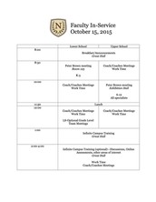 Thursday - Faculty In-Service