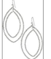 Bardot Hoop Earring -- Silver