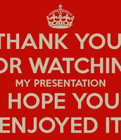 Hope you enjoyed my presentation