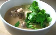 Mushroom and Tofu Coconut Soup