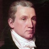 James Monroe looking right with swagger