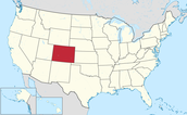 United States Map Highlighting Colorado