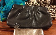 Clutch $50, originally $48; Wristlet $30, originally $68