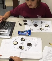 Oreos are used to represent the phases of the moon.