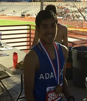 Sergio won 3rd in state in the mile run!