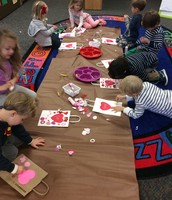 Busy working on Valentine bags