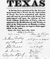 Texas Annexed 1845