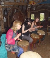 Drum workshop in the roundhouse