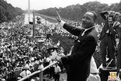 Martin Luther King Delivering a speech to the people