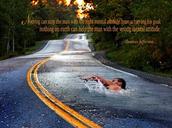 A person swimming through comncrete