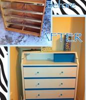 Belle's dresser  done at the garage.