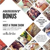 Hostess bonus days! Extra £40 for all qualifying trunk shows.