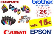 CARTUCCE COMPATIBILI EPSON BROTHER CANON
