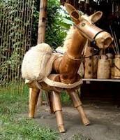 Donkey made of wood.