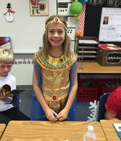 Haley as Cleopatra