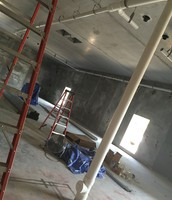 strong concrete walls and ceilings are evident