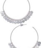 Fringe Hoop earrings large