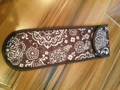Flat Iron Case - Woodblock Floral