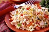 turkey and cheese salad.