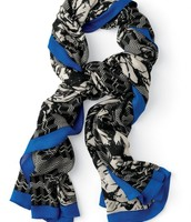 Union Square Scarf, Midnight Bloom