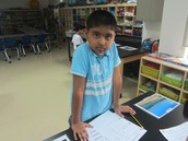 Welcome to our new student Rayyan