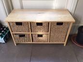 SOLD Wicker storage - £15