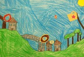 Third Grade Surrealist Landscapes