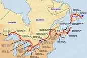 Route of Terry Fox
