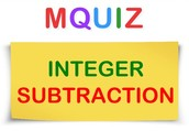 About MQuiz Integer Subtraction