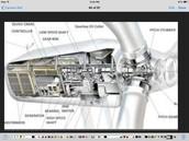 Inside a wind turbine