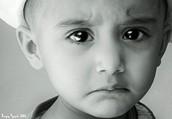 A sad kid
