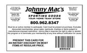 Johnny Mac's Discount Program for Mavs Families