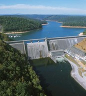 The dams created today by the Tennessee Valley Authority