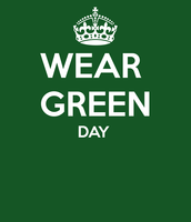 Wear GREEN this Wednesday!