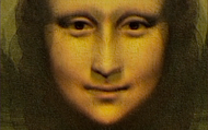 Frontal face of the Mona Lisa