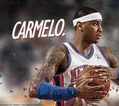 Cut out of Carmelo Anthony