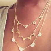 The gold pave chevron necklace.
