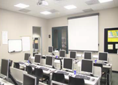 Three computer lab classrooms with a combined seating capacity of 33 students