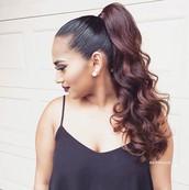 Lion King Ladies hairstyle...High Ponytail