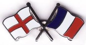 England and France flags