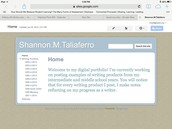 Using Google sites for the ePortfolio