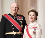 The King Harold and Queen  Sonja of Norway