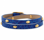 Blue Hudson Leather Wrap - Was £32 Now £12